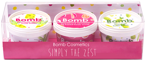 Bomb Cosmetics Simply The Zest Potted Gift Pack
