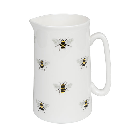 white bone china sophie allport jug 500ml with bees on