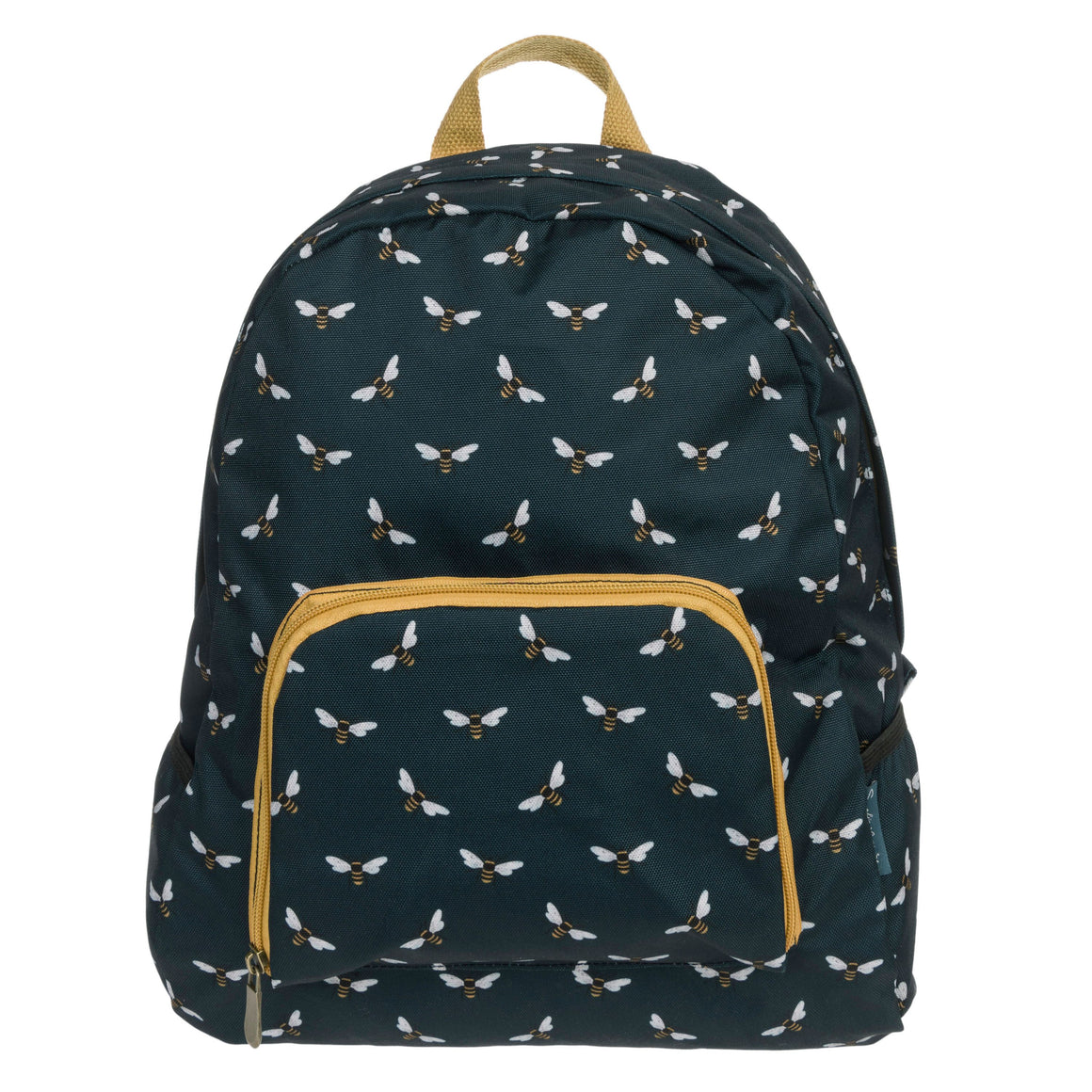 sophie allport folding bee rucksack navy and mustard piping