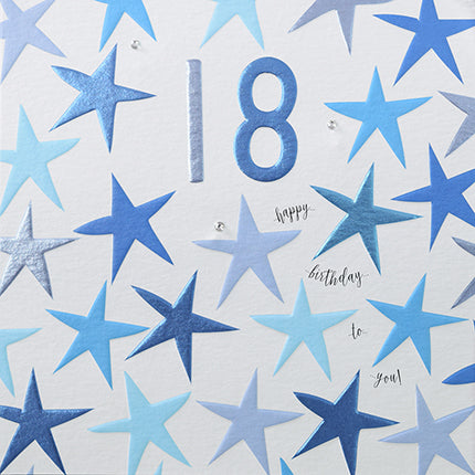 happy birthday to you 18 blue stars