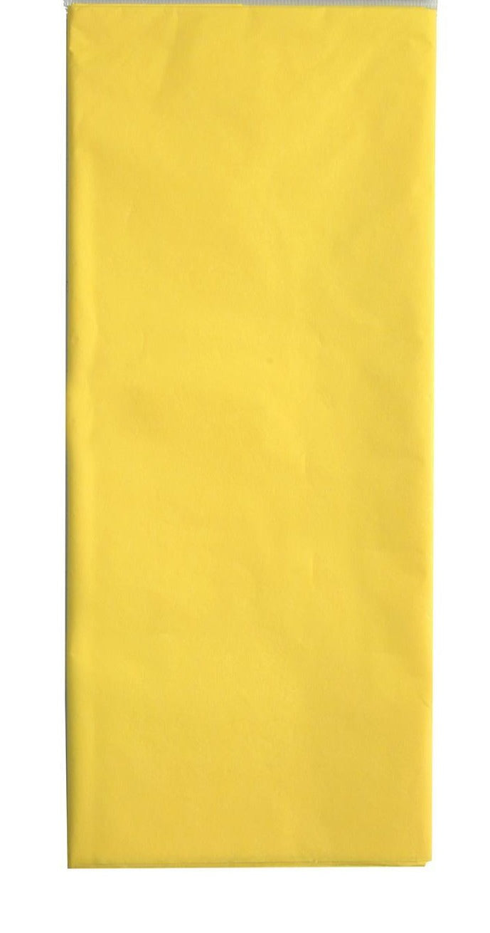 Pack of 5 50cm x 75cm yellow acid free tissue paper