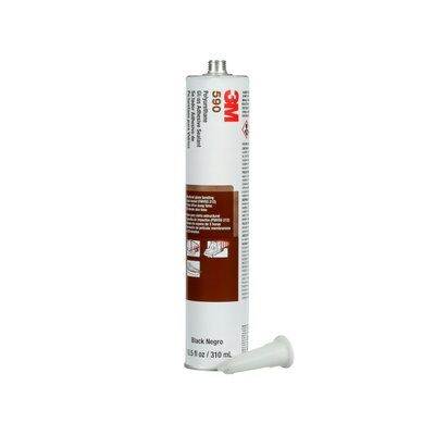 3M(TM) Polyurethane Glass Adhesive Sealant 590 Black, 310 mL Car