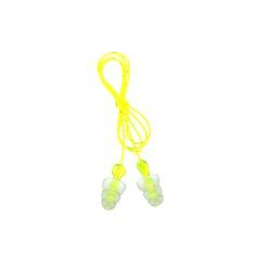 3M(TM) Tri-Flange(TM) Corded Earplugs, Hearing Conservation P300