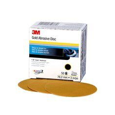 3M(TM) Hookit(TM) Gold Disc 236U, 00921, 3 in, P80 grade, 50 discs per