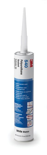 3M(TM) Polyurethane Sealant 540 White, Net 10.5 Fluid Ounce Cart