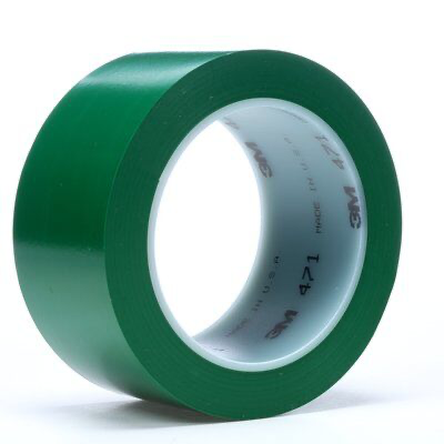 3M(TM) Vinyl Tape 471 Green 2 in x 36 yd (price per roll