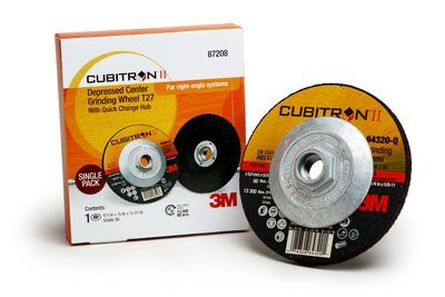 3M(TM) Cubitron(TM) II Depressed Center Grinding Wheel T27 Quick
