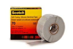 Scotch(R) 70 Self-Fusing Silicone Rubber Electrical Tape  1 in x