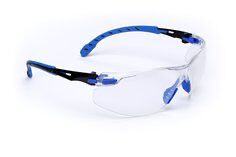 3M(TM) Solus(TM) 1000-Series Safety Glasses S1101SGAF, Black/Blue, Cle