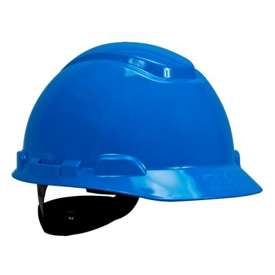 3M(TM) Hard Hat H-703R-UV, with UVicator, Blue, 4-Point Ratchet