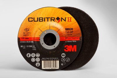 3M(TM) Cubitron(TM) II Cut-Off Wheel 66535, T27 4.5in x.125in x7