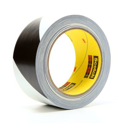 3M(TM) Safety Stripe Tape 5700 Black/White, 2 in x 36 yd 5.4 mil