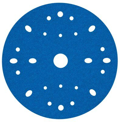 3M(TM) Hookit(TM) Blue Abrasive Disc Multi-hole, 36170, 6 in, 40 grade