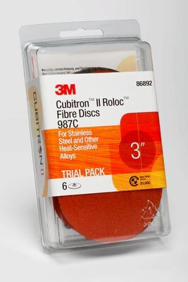3M(TM) Cubitron(TM) II Roloc(TM) Fibre Disc Trial Pack 987C, 3 i