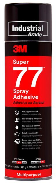 3M(TM) Super 77(TM) Multipurpose Spray Adhesive, Net Wt 16.75 oz