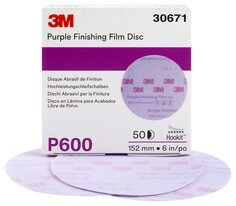 3M(TM) Hookit(TM) Purple Finishing Film Abrasive Disc 260L, 30671, 6 i