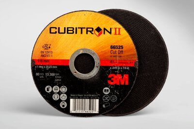 3M(TM) Cubitron(TM) II Cut-Off Wheel T1 66525 4.5 in x .045 in x