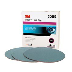 3M(TM) Trizact(TM) Hookit(TM) Foam Disc 30662, 6 in, P5000, 15 d