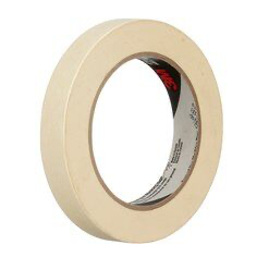 3M(TM) General Use Masking Tape 201+ Tan, 18 mm x 55 m 4.4 mil,