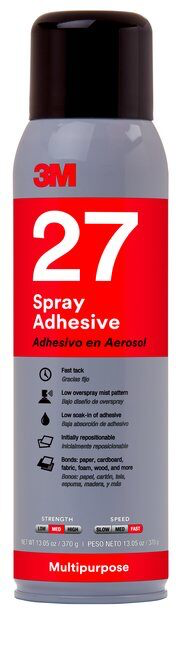 3M(TM) Multi-Purpose 27 Spray Adhesive Clear 20 fl oz can (price