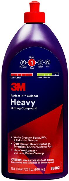 3M(TM) Perfect-It(TM) Gelcoat Heavy Cutting Compound 36102 Quart