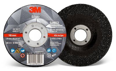 3M(TM) Silver Depressed Center Grinding Wheel 87453, T27 4.5 in
