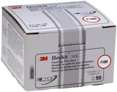 3M(TM) Hookit(TM) Finishing Film Disc, 00909, 3 in, P1000, 50 di