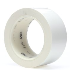 3M(TM) Vinyl Tape 471 White 2 in x 36 yd (price per roll) 000212