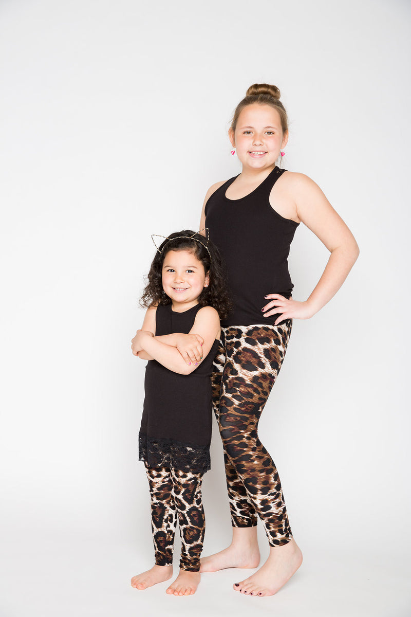 Burgundy Leopard Kids
