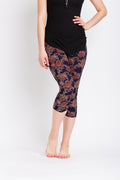 Purple Paisley Capri