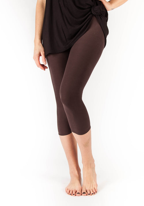 Chocolate Brown Capri