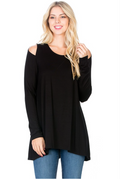 Cold Shoulder, Long Sleeve
