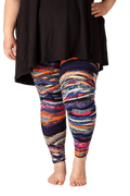 Ultra soft, super comfy leggings made with a unique, 4-way stretch, non-pilling fabric of great quality. Patterns and colours are vibrant and opaque and are not distorted when stretched and worn. This great colourful abstract design can be paired with any other colour!