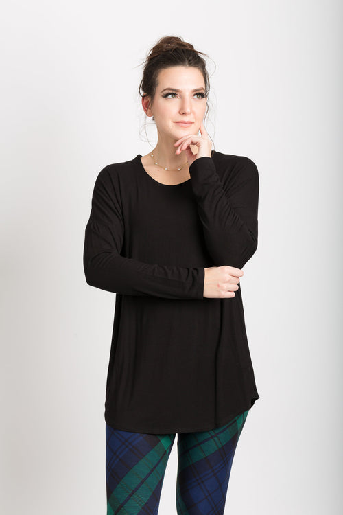 Drop Shoulder Long Sleeve