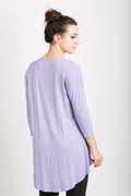 High Low Drop Shoulder 3/4 Sleeve Tunic