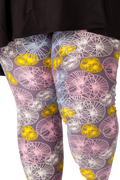 Plus size 2x, 3x, 4x, 5x. Ultra soft, super comfy leggings made with a unique, 4-way stretch, non-pilling fabric of great quality. Patterns and colours are vibrant and opaque and are not distorted when stretched and worn. This pattern is a fun, abstract pattern with beautiful pastel colours.