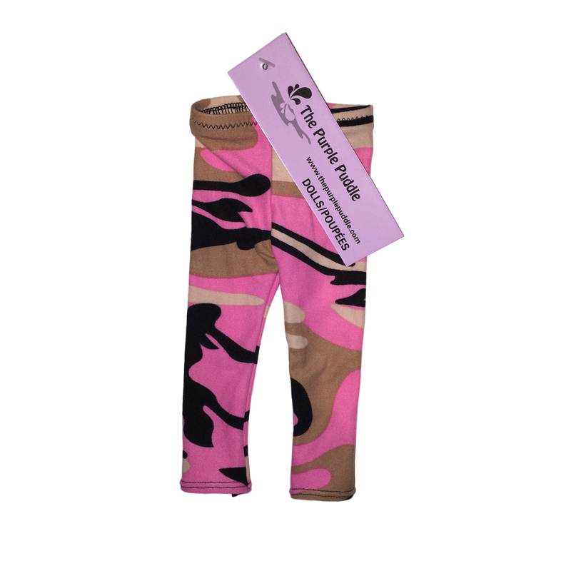 Pink Camo Doll Leggings