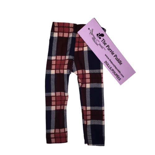 Rory Plaid Doll Leggings