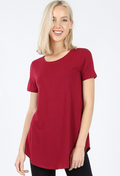 Short Sleeve Round Neck Front Back Scoop