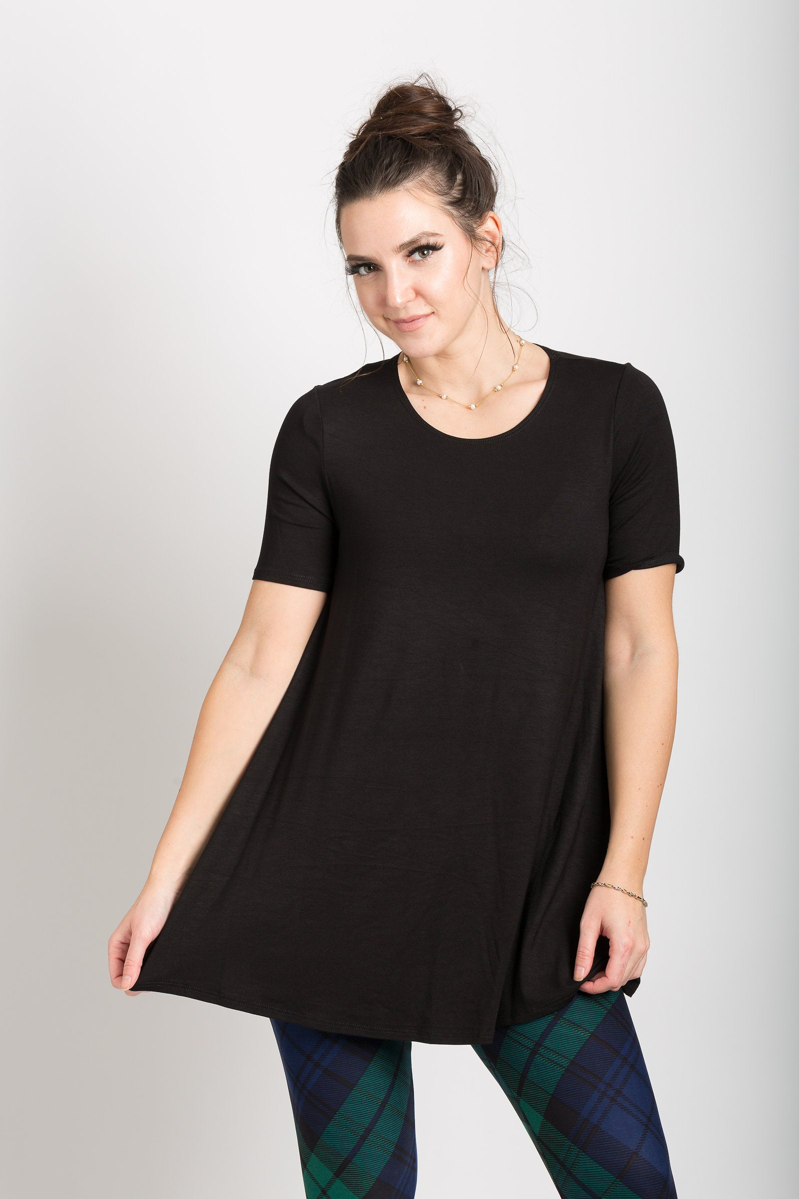 9764053a68caf1 Short Sleeve Tunic – The Purple Puddle