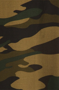close up view long army green maxi skirt, ankle length, one size; classic print in a green camo design. Super soft, stretchy, versatile, great for summer and vacations!