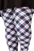 Beautiful Blue Tartan Plus (3X-5X)