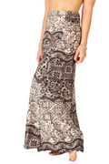 Champagne Lace MAXI SKIRT