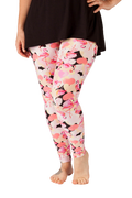 Ultra soft, super comfy leggings made with a unique, 4-way stretch, non-pilling fabric of great quality. Patterns and colours are vibrant and opaque and are not distorted when stretched and worn. This pattern is a super cute pink flamingo print with pink hearts!