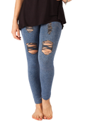 """Light Denim"" Distressed Jegging"