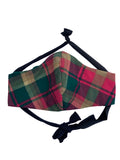 Maple Leaf Tartan Face Mask
