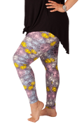 Ultra soft, super comfy leggings made with a unique, 4-way stretch, non-pilling fabric of great quality. Patterns and colours are vibrant and opaque and are not distorted when stretched and worn. This pattern is a fun, abstract pattern with beautiful pastel colours.