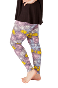 Ultra soft, super comfy leggings made with a unique, 4-way stretch, non-pilling fabric of great quality. Patterns and colours are vibrant and opaque and are not distorted when stretched and worn. This pattern is a fun, abstract, circle pattern with beautiful pastel colours.