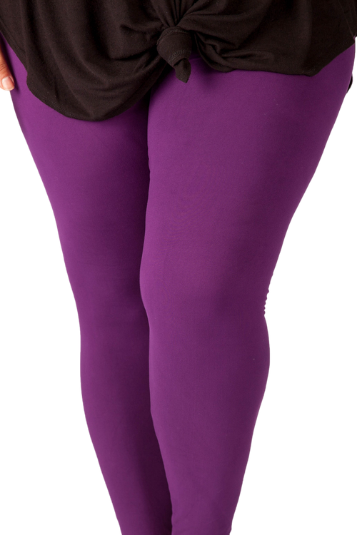 super soft high waisted womens leggings rich dark purple is a great basic to have and is perfect for layering!