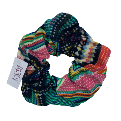 Rainbow Chevron Scrunchie